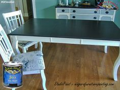 Studio Paint, http://www.niagarafurniturepainting.com/, refreshed this dining table top with the infamous Java Gel Stain from General Finishes. You can find your favorite GF products at Woodcraft, Rockler Woodworking stores or Wood Essence in Canada. You can also use your zip code to find a retailer near you at http://generalfinishes.com/where-buy#.UvASj1M3mIY.  #generalfinishes #javagel #gfgelstain
