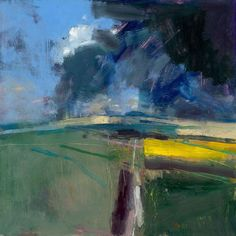 Peter Iden Artist: South Downs Passing Storm 2009 Estate of Peter Iden Landscape Artwork, Abstract Landscape Painting, Seascape Paintings, Cool Landscapes, Watercolor Landscape, Abstract Art, Watercolor Artists, Indian Paintings, Painting Art