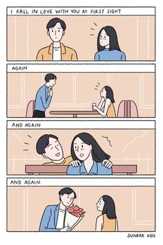 But you never notice me. Cute Couple Comics, Couples Comics, Cute Comics, Funny Comics, Anime Couples, Cute Couples, Sundae Kids, Cartoons Love, Couple Illustration