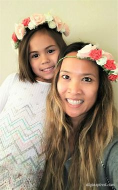 DIY Flower Crown Headband for Adults and Kids with video tutorial!  #ad @papermart
