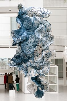 Paper sculpture by Peter #gentenaar, a great #artist !  #aerial #beautiful #awesome #féérique #waow