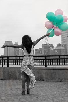 Fashion photo shoot at Liberty State Park, black and white with pop of color, NYC Skyline