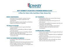 @Mitt Romney's Plan For A Stronger Middle Class #mitt2012