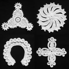 https://flic.kr/p/9uwqoV | 04. Irish Crochet Lace - Shamrock Scroll, Wheel, Horse Shoe, Cross