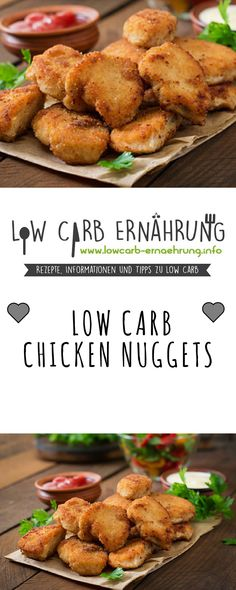 Low Carb Recipe for Tasty Chicken Nuggets with Low Carbs. - Low Carb Recipe for Tasty Chicken Nuggets with Low Carbs. Low carb and easy and fast in the prepara - Chicken Nuggets, Fried Chicken, Healthy Chicken Recipes, Low Carb Recipes, Slow Cooker Recipes, Quick Recipes, Low Glycemic Diet, Low Carb Diet, Law Carb