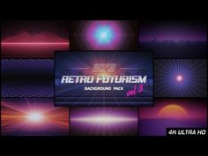 80s Retro Futurism Background Pack vol.3
