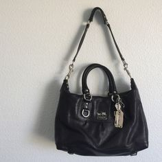 {Coach} Madison Sabrina Leather Satchel slight creasing from storage but otherwise in perfect condition. untouched interior. used 2-3 times. last picture is a stock picture to show the style Coach Bags Satchels