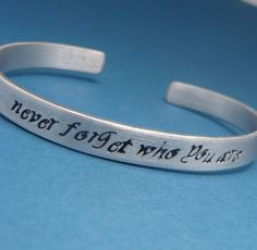 Lion King Inspired - Never Forget Who You Are - Hand Stamped Aluminum Bracelet