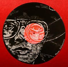 Yury Ermolenko, ''Michel Petrucciani'' - Facevinyl - THE BIG COLLECTION - №10, side II, 2013, acrylic on vinyl. The History of Jazz and Blues. #YuryErmolenko #еrmolenko #ЮрийЕрмоленко #ермоленко #yuryermolenko #юрийермоленко #юрийермоленкохудожник #юрiйєрмоленко #ЮрiйЄрмоленко #єрмоленко #rapanstudio #modernart #fineart #contemporaryart #painting #art #vinyl #texture #portrait #music #jazzmusic #bluesmusic #Facevinyl #jazz #blues #RapanStudio #портрет #музыкант #musician #MichelPetrucciani