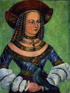 Jadwiga Jagiellonka,Duchess of Bavaria by Mair von Landshut,1502  Reinette: German Style from 1468-1588 jeannepompadour.blogspot.se