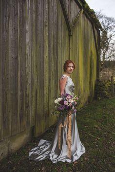 DELPHINIUM // By Kate Beaumont // Photography: S6 Photography // Hair & MU: Jenn Edwards // Florals: Swallows & Damsons // Accessories: Debbie Carlisle