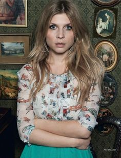 Clémence Poésy by Pierre Bailly for Elle UK (March 2012).