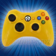 Polished Yellow Xbox 360 Modded Controller is a perfect gift for a special gamer in your life! All of GamingModz.com Xbox 360 modded controllers are compatible with every major game on the market today. If you decide to get one of our Xbox 360 or Playstation 3 modded controllers, your gaming experience will increase, overall performance will rise and it will allow you to compete against more experienced players.