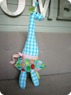 Fabric giraffe !!!