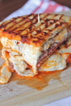 If you love Pizza you will love this Pizza Panini Sandwich. It is perfect for lunch, dinner, or grey and rainy day.