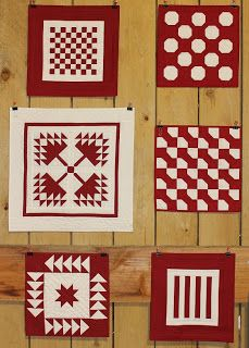 Minis Red & White - Quilts In The Barn: Come walk around the Barn with me.