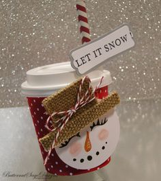 Thursday, November 7 Butternut Sage Designs....: MINI SNOWMAN COFFE CUP