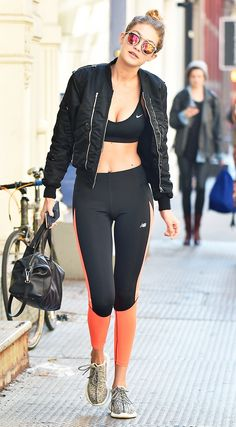 How to Look Chic on the Weekends, According to Gigi Hadid via @WhoWhatWear