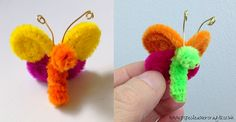 Pipe Cleaner Crafts for Kids | Small Pipe Cleaner Butterfly