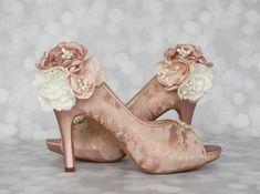 Zapatos zapatos de novia Rosa Novia de la boda zapatos