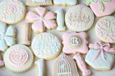 Shabby Chic Sugar Cookies, CookieConfectionery.etsy.com