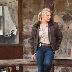 Katee Sackhoff as Vic Moretti in Longmire.  Pretty much the entire reason I watch this show.