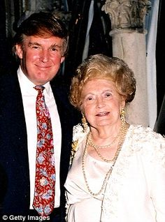 """While his dour father was painfully awkward and shy, Mary was vivacious, the life and soul of a party.  'Looking back, I realise now that I got some of my sense of showmanship from my mother,' Trump wrote in his memoirs with his typical modesty. Certainly, his gaudy, glitzy taste didn't come from his penny-pinching father, either. - """"My mother had a sense of the grand. I can remember her watching the coronation of Queen Elizabeth and being so fascinated by it."""""""