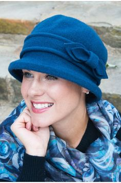 Felt Nevaeh Cloche Hat - Winter Cancer Hats for Women, Chemo Hats, Alopecia, Head Coverings