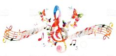 Colorful background with music notes royalty-free stock vector art