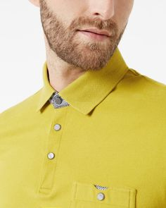 Textured knit polo shirt - Lime   Tops & T-shirts   Ted Baker