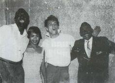 Nappy Brown, Sugar Pie Desanto, Gene Vincent & Peewee Parham (Sugar Pie's husband) May 1958