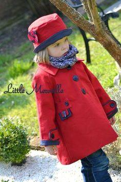 Céphée coat, pattern Grains de Couture, Little Merveille version: adorable!