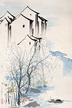 Wu Guanzhong (吴冠中; b1919, Yixing, China)