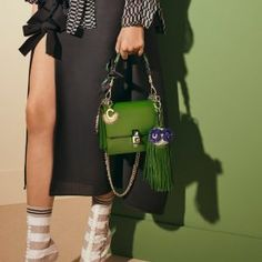 Image result for Fendi lime green kan i bag pre-fall