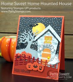 I know I said that THIS CARD might be the cutest Halloween card ever... but... now I'm thinking today's card might be! I finally used my Home Sweet Home bundle from Stampin' Up! and instead of makin