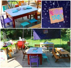 Re-Useum.What a great idea! Recycled materials + Kid Imagination = A museum of recycled material art! Projects For Kids, Art Projects, Material Art, Art Camp, Outdoor Furniture Sets, Outdoor Decor, Recycled Materials, Imagination, Recycling