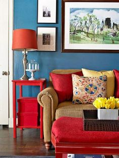 Colorful Decoration ideas for Living Room #livingroom #livingroomdecor #livingroomdesign #livingroomideas #livingroomcolorful #livingroomred #colorful #colorfullivingroom