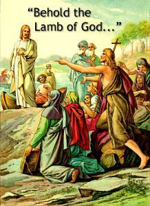 Behold the lamb of god said quot behold the lamb god which takes