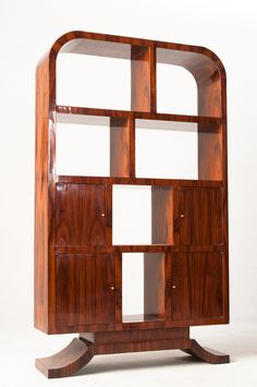 Bookshelf in the Art Deco style.