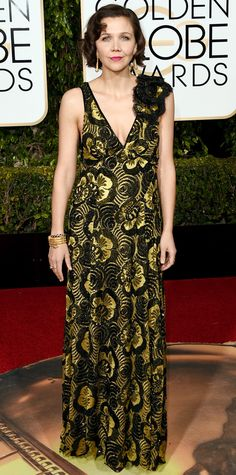 Eric Wilson's Top 10 Best Dressed at the 2016 Golden Globes - Maggie Gyllenhaal in Marc Jacobs  - from InStyle.com
