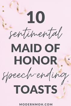 Looking for a unique way to end your maid of honor speech? Check out our 10 favorite sentimental toasts guaranteed to get glasses clinking! checklist maid of honor 10 Sentimental Maid of Honor Speech-Ending Toasts Matron Of Honor Speech, Maid Of Honour Dresses, Maid Of Honour Gifts, Matron Of Honour, Maid Of Honor Dress Different, Maid Of Honor Responsibilities, Bridesmaid Speeches, Sister Wedding Speeches, Bridesmaid Gowns