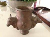Ethnic Copper Based Pen Stand- 7.5 inches height, 5.5 inches widthEthnic Copper Based Pen Stand- 7.5 inches height, 5.5 inches width