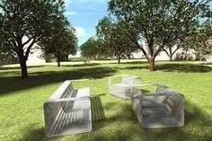 ARCHiCOL » parkový mobiliář Hostašovy sady; Klatovy