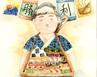 Singaporean illustrator Lily X created these lovely watercolor drawings of Japanese sushi. Watercolor Drawing, Watercolor Illustration, Watercolor Paintings, Japanese Food Art, Japanese Illustration, Sushi, Sketches, Lily, Design Inspiration