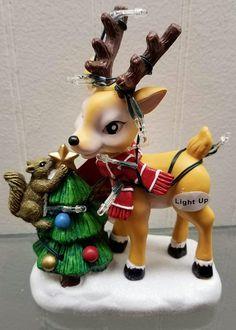 Little Christmas, Merry Christmas, Christmas Ornaments, Christmas Stuff, Christmas Chair, Clay Animals, Joy And Happiness, Light Up, Reindeer