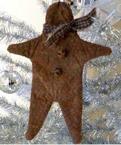 Free Primitive Gingerbread Man Ornament Project