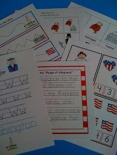 Preschool Printables: President Day