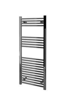 wickes straight towel radiator chrome 1200x500mm homes. Black Bedroom Furniture Sets. Home Design Ideas