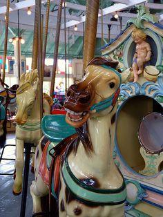 Crescent Park Carousel horses