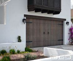 Browse our page for a little more on the subject of this mind-blowing dark garage doors Black Garage Doors, Garage Door Hardware, Garage Door Design, Spanish Exterior, Spanish Colonial Homes, Spanish Revival, Spanish Style, Mediterranean Doors, Carriage Doors